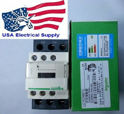 New Schneider Contactor LC1D38B7C With  Coil  24VAC 50/60Hz