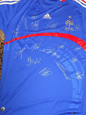 France team signed home shirt, with Koscielny, Payet. & COA