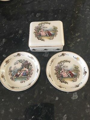Lord Nelson Pottery Trinket Box and Two Matching Ring Dishes