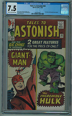 Tales To Astonish #60 Cgc 7.5 Kirby Cover Off-White To White Pages 1964