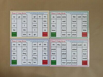 Tricky Word Game - A4 Game Mats - Phonics/Letters and Sounds/EYFS/KS1/SEN