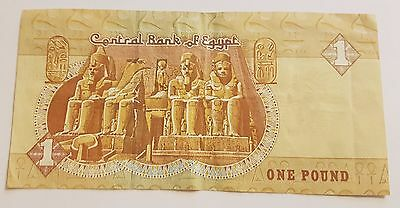 Rare One Pound  Egypt Banknote Paper Money