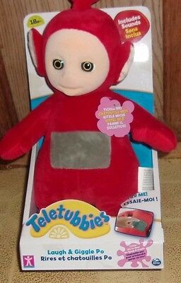 Teletubbies Tickle LAUGH and Giggle Po Soft Toy (Red). Brand New