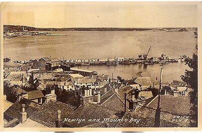 Lovely Rare Old Postcard - Newlyn And Mounts Bay - Cornwall 1956