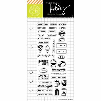 Kelly Purkey Clear Stamps - Food Planner - Diary Journal Planning Decoration
