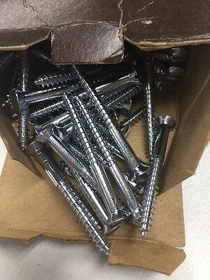 "100 Qty #10 x 2"" Chrome Plated Brass Slotted OH Wood Screws~Century~Wood Boat"