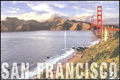 San Francisco - Baker Beach And The Golden Gate  Bridge Posted
