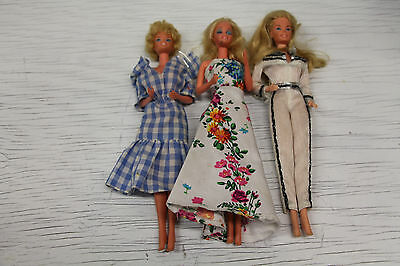 Vintage lot of 3 Mattel Barbie Dolls 2 from Taiwan & 1 from Korea