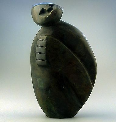 Vintage Contemporary Sculpture : Carved Verdite Modernist Warrior by Ngoni Mrewa