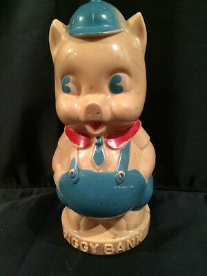 Vintage Porky Pig Piggy Bank By Reliable