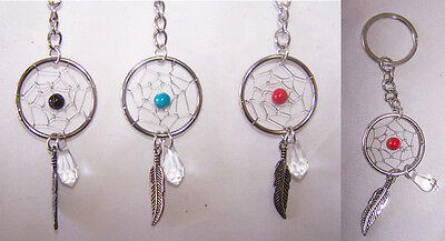 Tribal Hand Made Dream Catcher  Key Rings  12 Pc Lot  - Gifts  (NpDc178-12  Z)