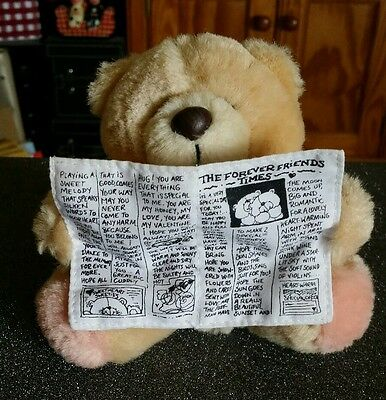 Forever Friends Small Plush Teddy Bear Holding 'The Forever Friends Times'