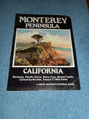 Smith Western Pictorial Monterey Peninsula California Book Vintage Travel Guide