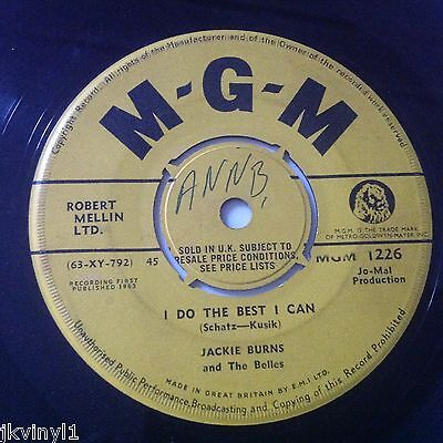 Jackie Burns - I Do The Best I Can/he's My Guy - Uk Mgm Promo 1226  Vg+