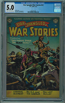 Star Spangled War Stories #10 Cgc 5.0 Seldom Seen Or Sold Cr/ow Pages 1953