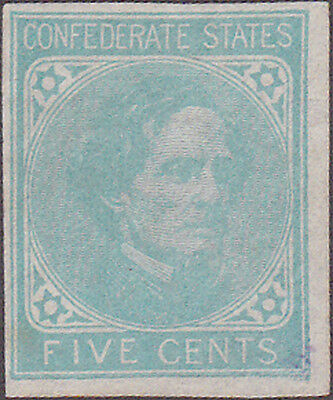 Confederate #6 New York Counterfeit Five Cent Stamp