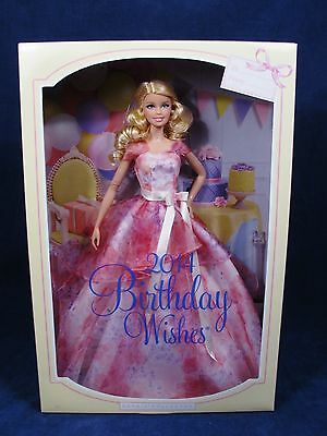 MATTEL 2014 BIRTHDAY WISHES Barbie Model Muse Doll Collector BCP64 NRFB