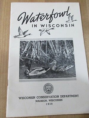 1939 Waterfowl in Wisconsin Booklet Wis Conservation Department