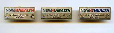 Sydney 2000 - Nsw Health - Set Of 3 Pins - Gold