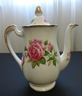 ROYAL STANDARD Orleans Rose Fine Bone China Coffee Pot England