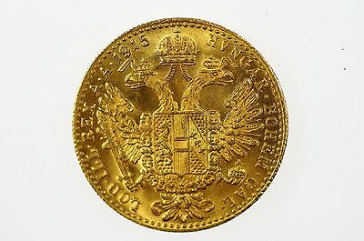 1915 Austria Gold Ducat Coin In Uncirculated Condition