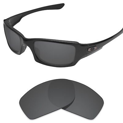 Tintart Polarized Replacement Lenses for-Oakley Fives Squared Carbon Black (STD)