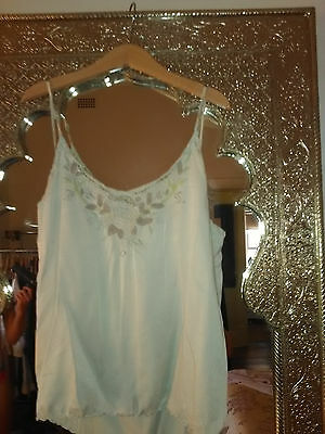 French Vintage pure silk camisole