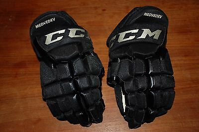Brand New Pro Stock Ccm Hg55Xp Hockey Gloves Philadelphia Flyers 3Rds Medvedev