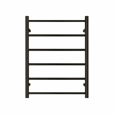 600*780*120mm BLACK SATIN Round NON-Heated Towel Rails Stainless Steel 6 Bar
