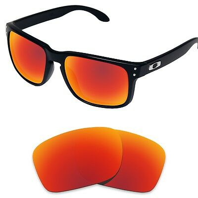 Replacement Lenses for-Oakley Holbrook Fire Red Polarized (STD)