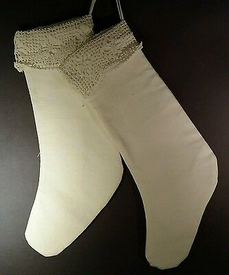 Stockings pair made from antique pillowcase