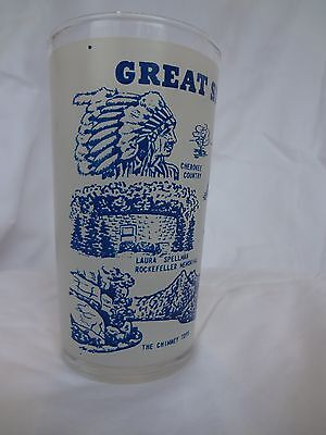 """Vintage """"Great Smokey Mountains National Parks"""" Souvenir glass- 5 inches tall"""