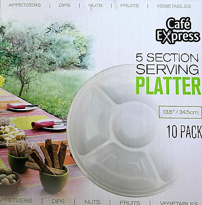 Cafe Express 5 Section Serving Platter 10 Pack Free Postage Superfast Delivery!!