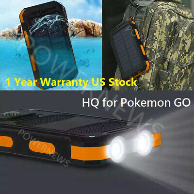USA Waterproof 900000mAh 2 USB Portable Solar Battery Charger Solar Power Bank