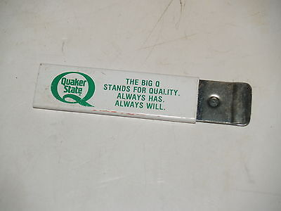 Vintage Advertising Quaker State Case Box Cutter Slide out Razor Blade