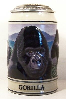Budweiser Stein ~ Endangered Species ~ Gorilla
