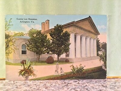 Postcard Curtis Lee Mansion, Arlington, Virginia