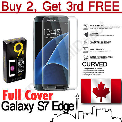 Premium 3D Full Cover Tempered Glass Screen Protector for Samsung Galaxy S7 Edge
