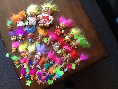 Huge lot of 41 assorted Treasure Trolls.  Awesome Lot!!   Some Rare Ones!!!