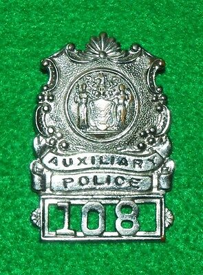 Obsolete New Jersey Auxiliary Police Badge