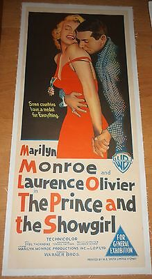 THE PRINCE AND THE SHOWGIRL 1957 Daybill Australian Movie poster MARILYN MONROE