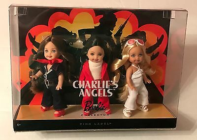Charlie's Angels Dolls Barbie Collector Pink Label Kelly Giftset NRFB