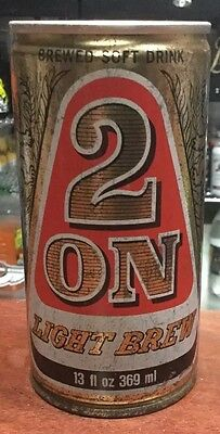 2 On Light Brew. 13FL.OZ. C/S Steel Collector Beer Can