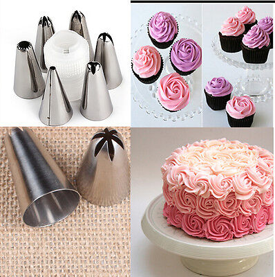 6X  Icing Piping Nozzles Pastry  Tips Cake Sugarcraft Decorating Tool Set