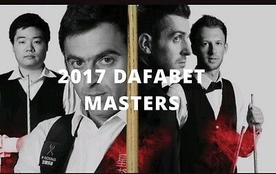 Masters Snooker Semi Final 2017 2 tickets