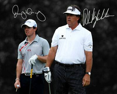 Phil Mickelson Rory Mcilroy PGA Golf Signed Photo Autograph Reprint
