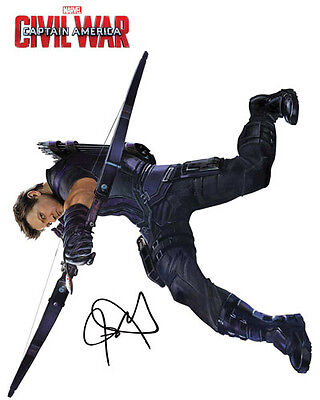 Hawkeye Jeremy Renner Signed Photo Autograph Reprint