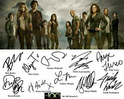 The 100 S2 Eliza Taylor Marie Avgeropoulos Cast Signed Photo Autograph Reprint