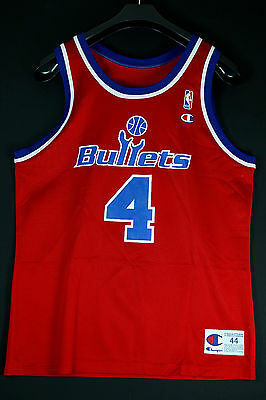NEU NEW Champion Chris Webber BULLETS Gr L SZ 44 NBA Basketball Jersey Trikot M