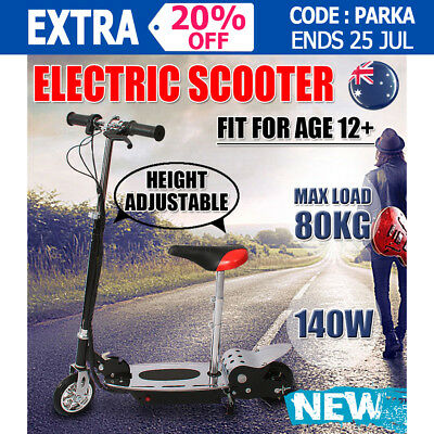 Portable 140W Electric Scooter Folding Height Adjustable For Both Adults&Kids AU